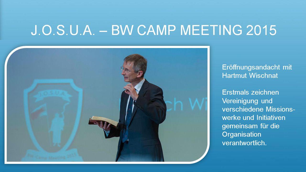 Eröffnungsandacht mit Hartmut Wischnat