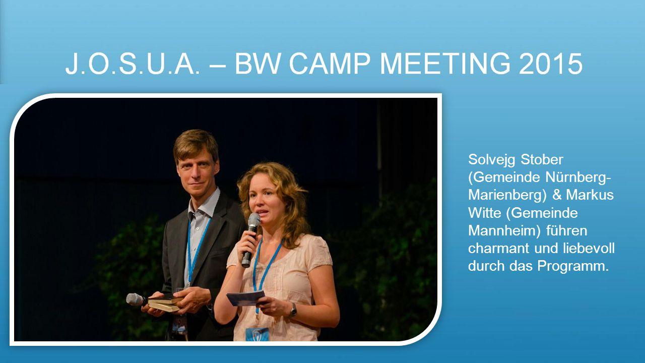 Solvejg Stober (Gemeinde Nürnberg-Marienberg) & Markus Witte (Gemeinde Mannheim) führen charmant und liebevoll durch das Programm.