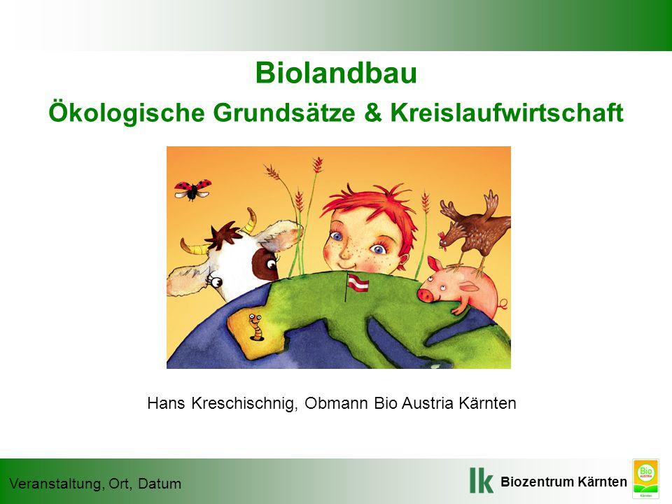 Ökologische Grundsätze & Kreislaufwirtschaft