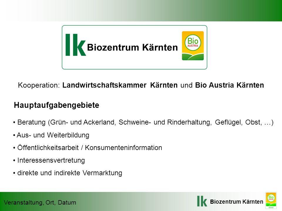 Kooperation: Landwirtschaftskammer Kärnten und Bio Austria Kärnten