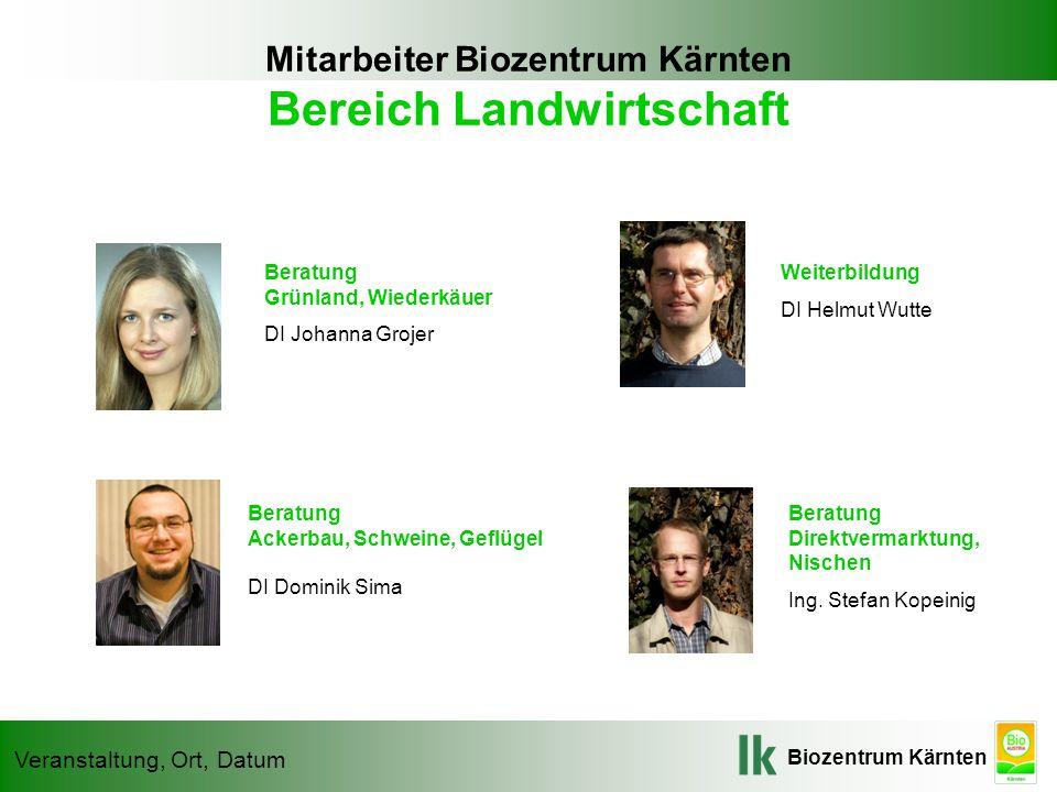 Mitarbeiter Biozentrum Kärnten Bereich Landwirtschaft