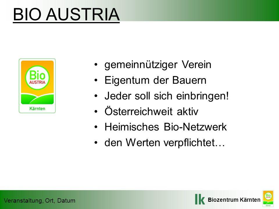 BIO AUSTRIA gemeinnütziger Verein Eigentum der Bauern