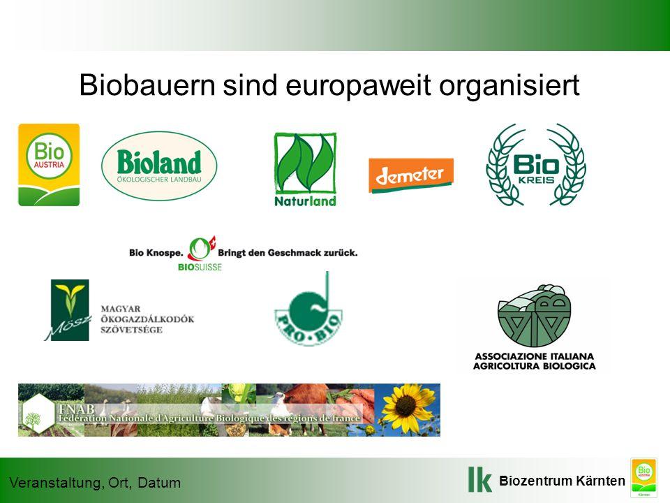 Biobauern sind europaweit organisiert
