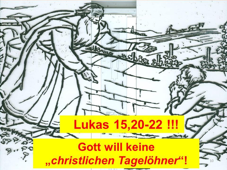 """""""christlichen Tagelöhner !"""