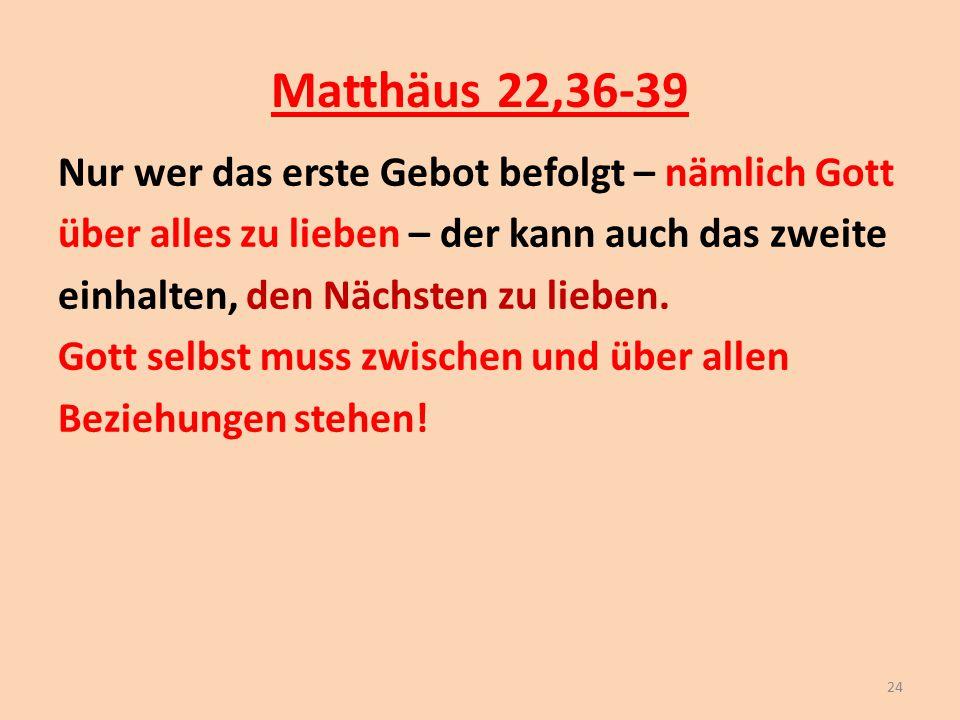 Matthäus 22,36-39