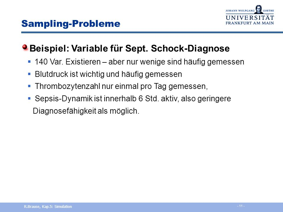 Beispiel: Variable für Sept. Schock-Diagnose