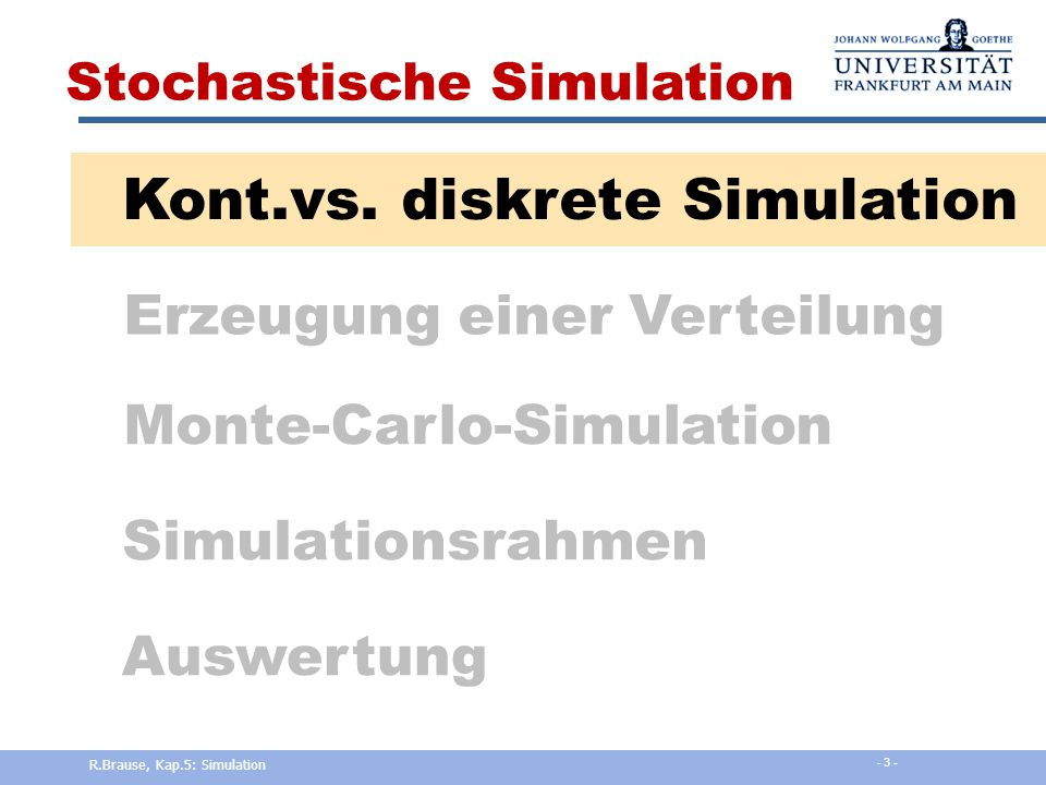 Kont.vs. diskrete Simulation