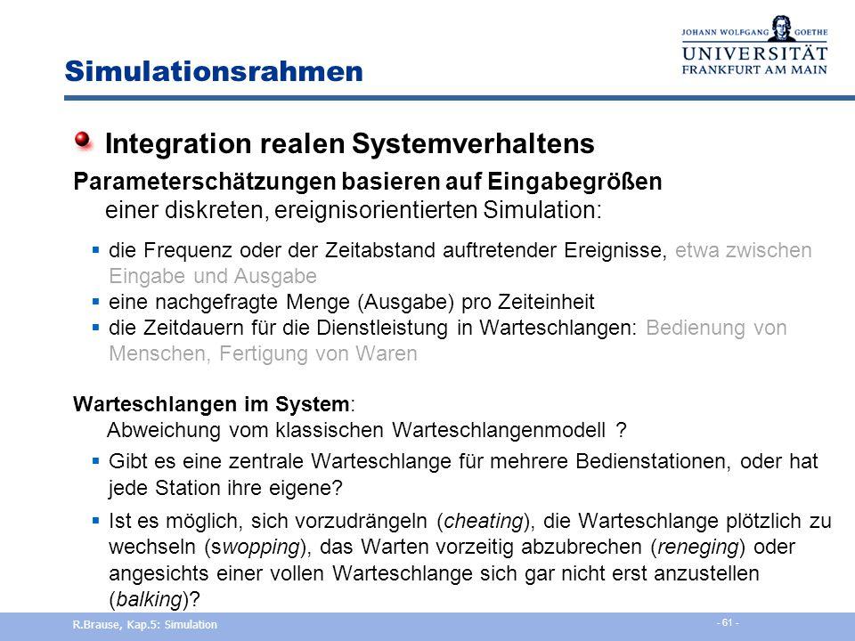 Integration realen Systemverhaltens