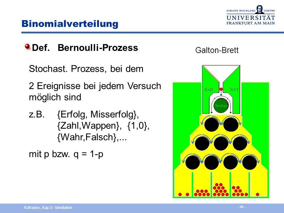 Def. Bernoulli-Prozess