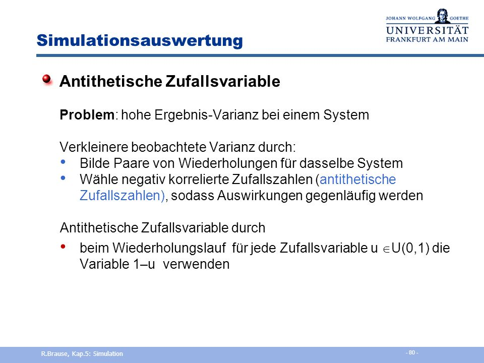 Simulationsauswertung