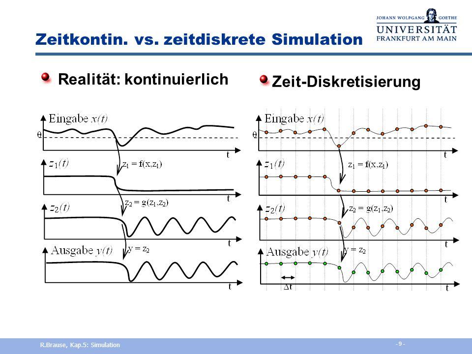 Zeitkontin. vs. zeitdiskrete Simulation