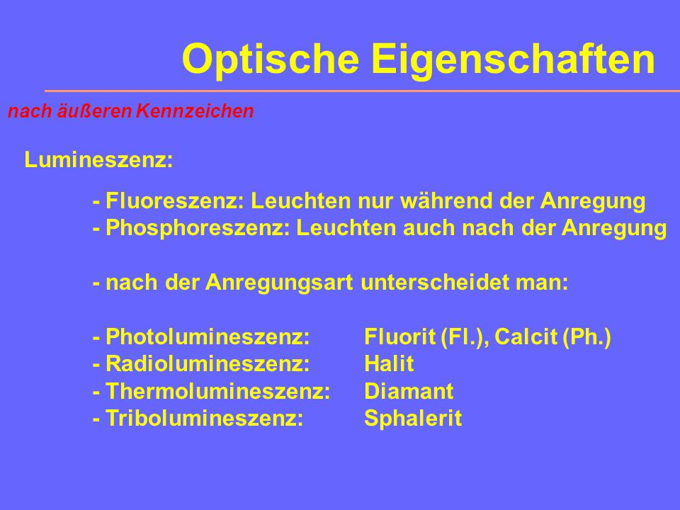 Optische Eigenschaften