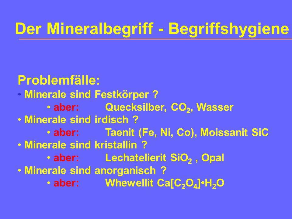 Der Mineralbegriff - Begriffshygiene