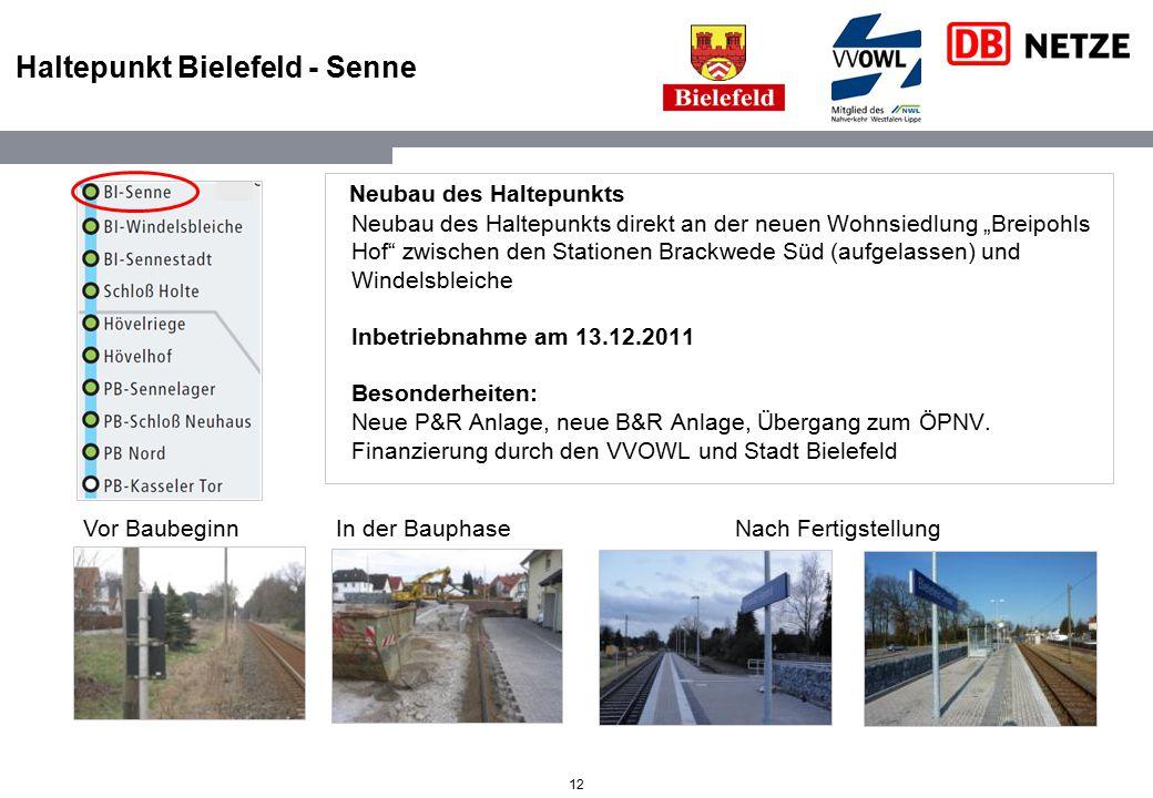 Haltepunkt Bielefeld - Senne