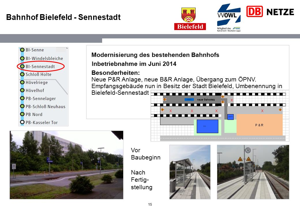 Bahnhof Bielefeld - Sennestadt