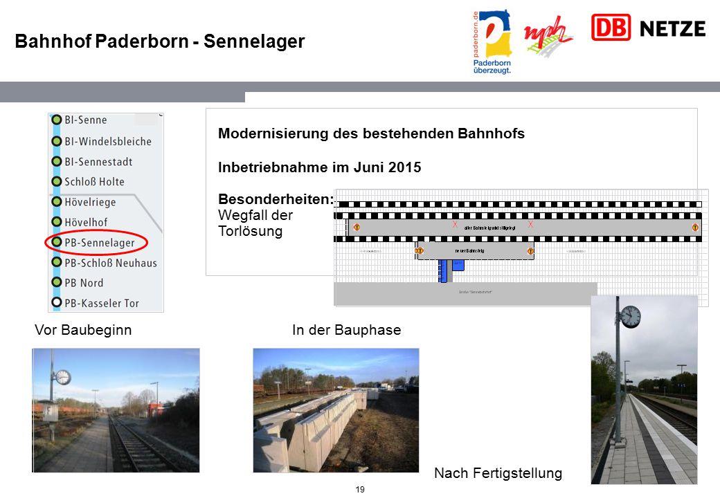 Bahnhof Paderborn - Sennelager