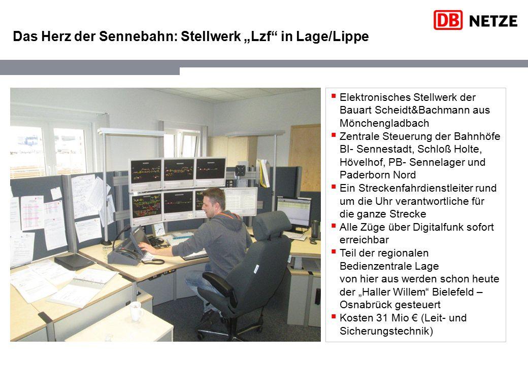 """Das Herz der Sennebahn: Stellwerk """"Lzf in Lage/Lippe"""