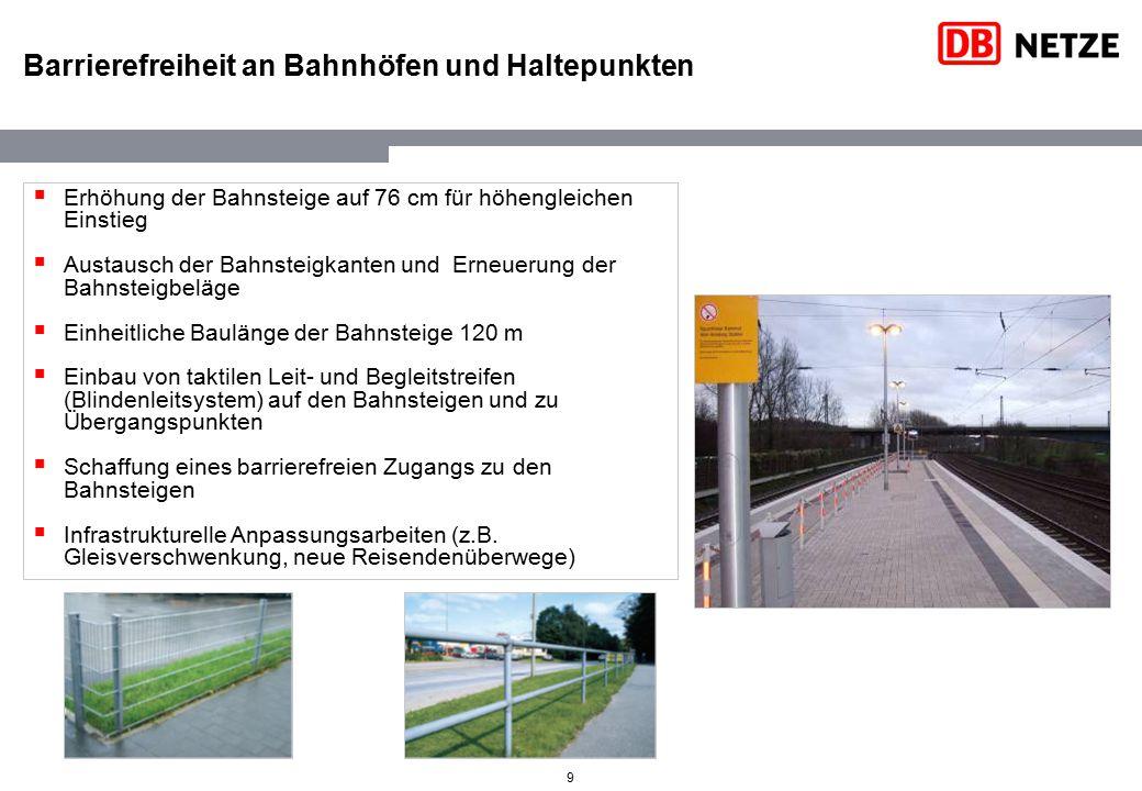 Barrierefreiheit an Bahnhöfen und Haltepunkten