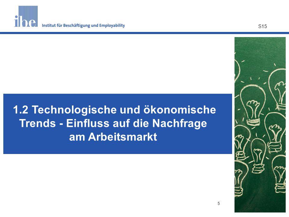 1.2 Technologische und ökonomische Trends - Einfluss auf die Nachfrage am Arbeitsmarkt