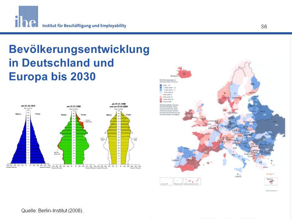 Bevölkerungsentwicklung in Deutschland und Europa bis 2030