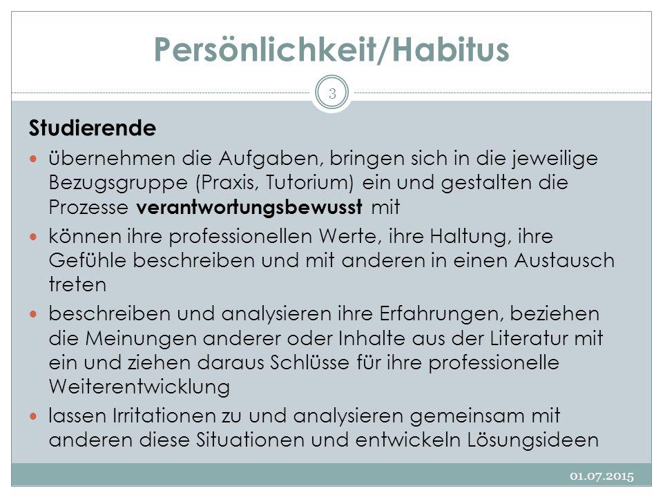 Persönlichkeit/Habitus