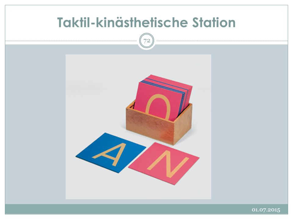 Taktil-kinästhetische Station