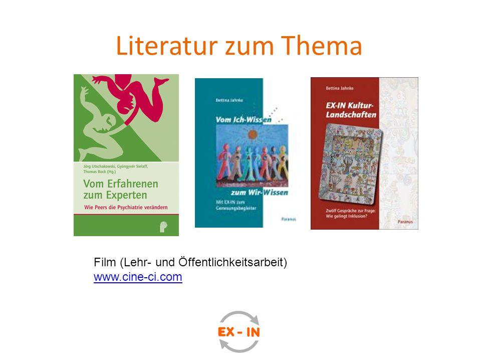 Literatur zum Thema Film (Lehr- und Öffentlichkeitsarbeit) www.cine-ci.com