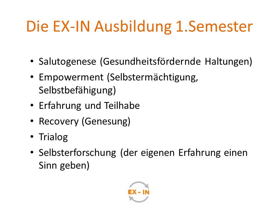 Die EX-IN Ausbildung 1.Semester