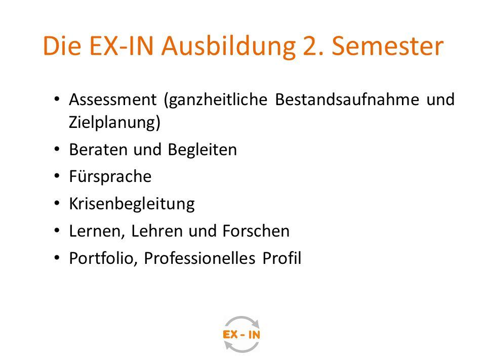 Die EX-IN Ausbildung 2. Semester