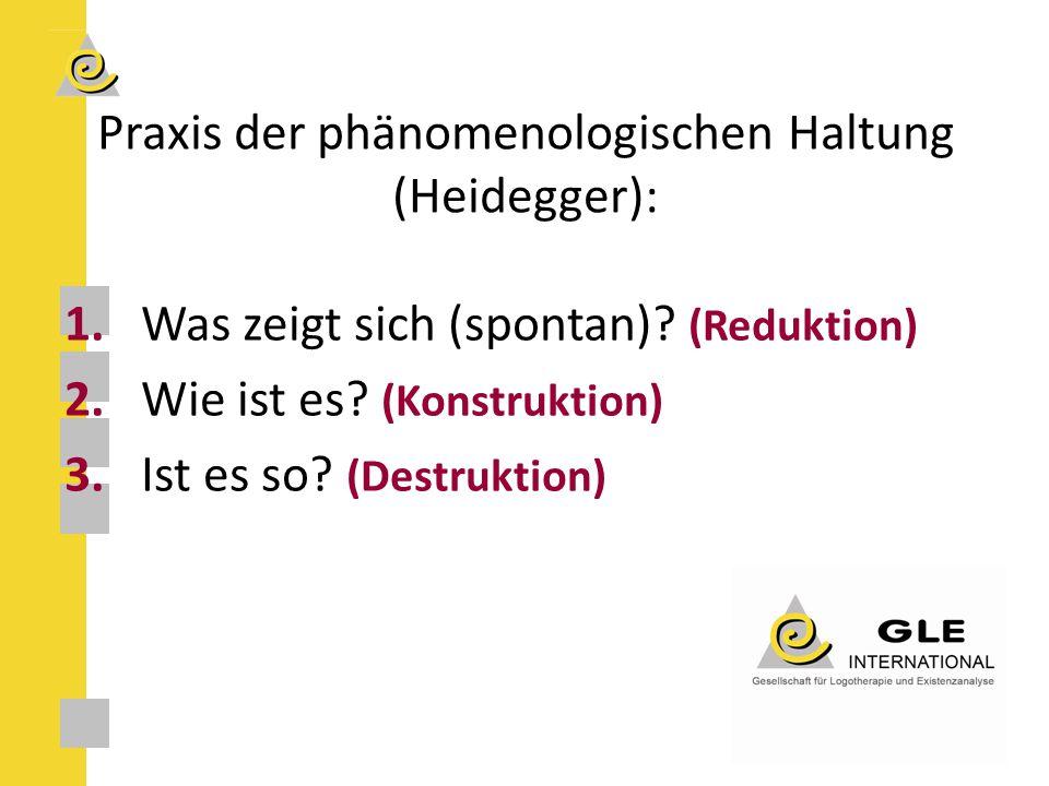 Praxis der phänomenologischen Haltung (Heidegger):