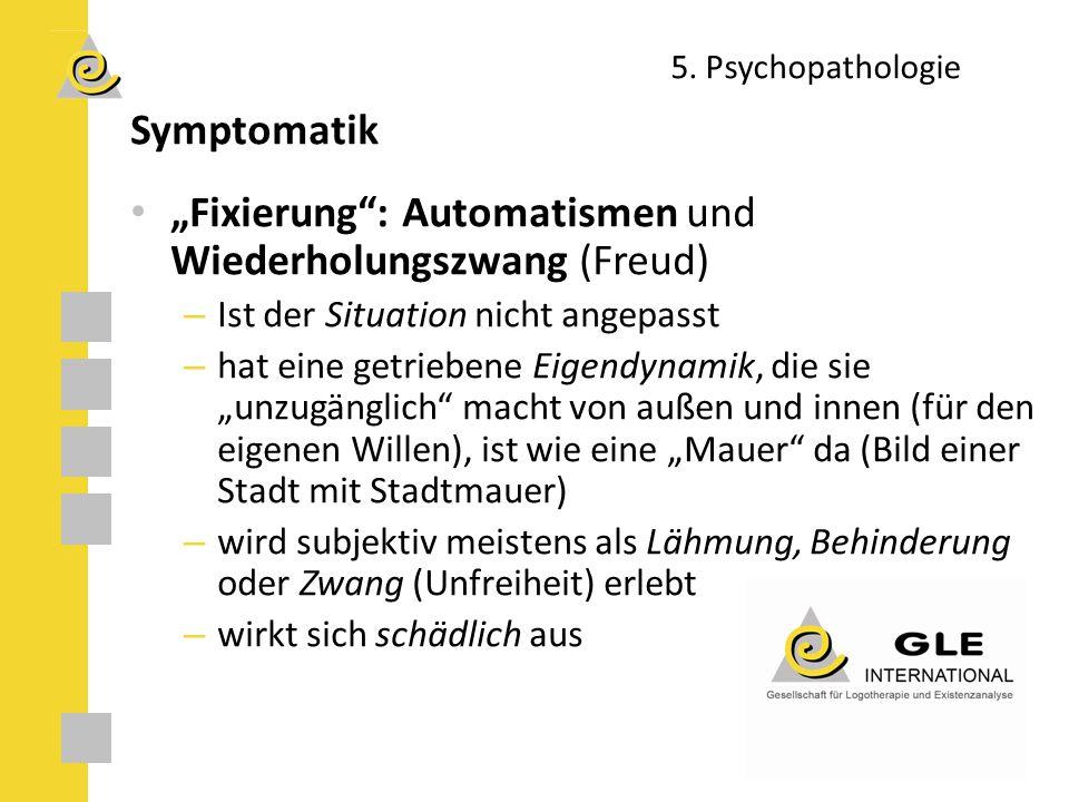 """""""Fixierung : Automatismen und Wiederholungszwang (Freud)"""