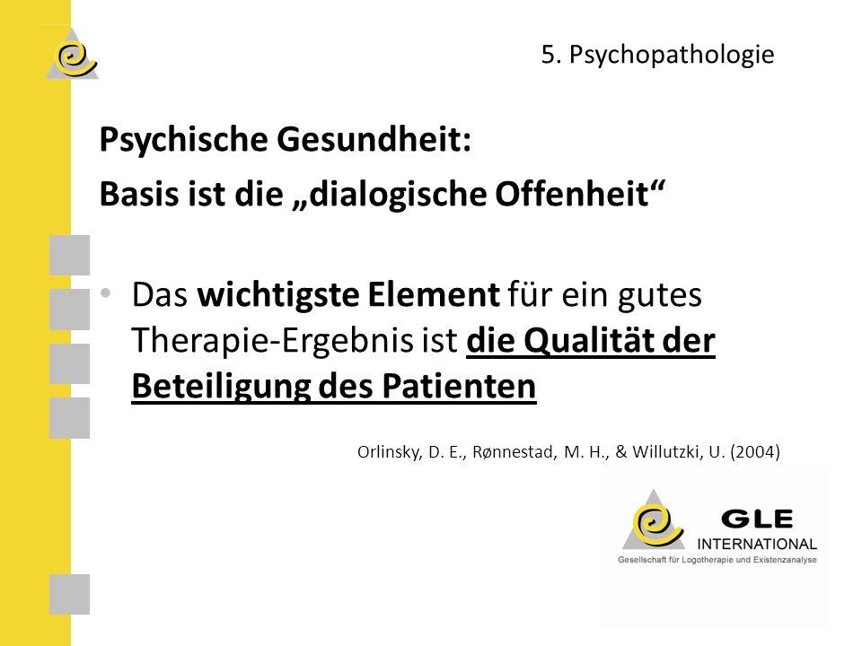 """Psychische Gesundheit: Basis ist die """"dialogische Offenheit"""