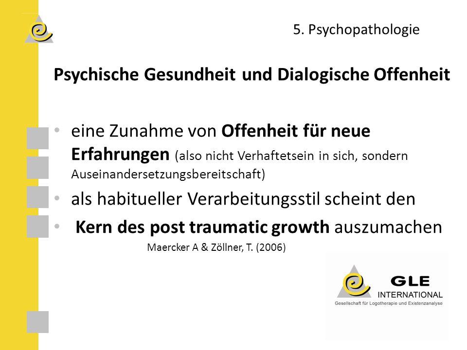 Psychische Gesundheit und Dialogische Offenheit