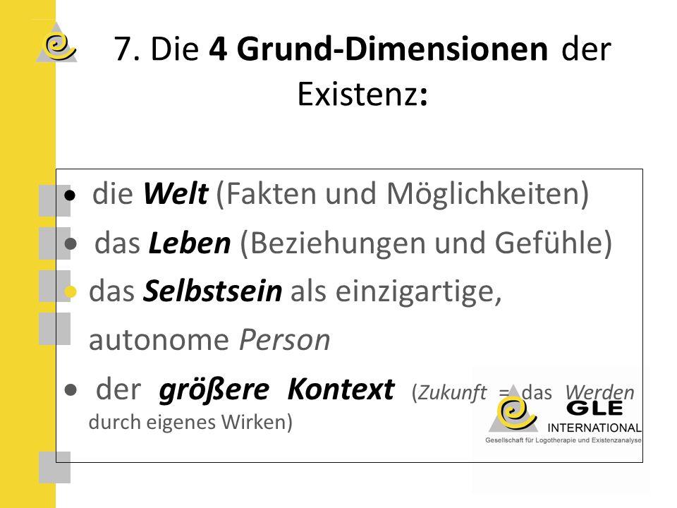 7. Die 4 Grund-Dimensionen der Existenz: