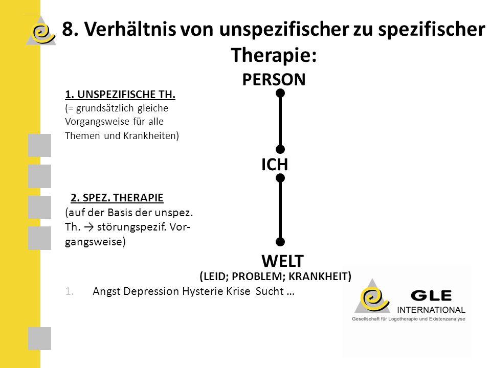 8. Verhältnis von unspezifischer zu spezifischer Therapie: PERSON