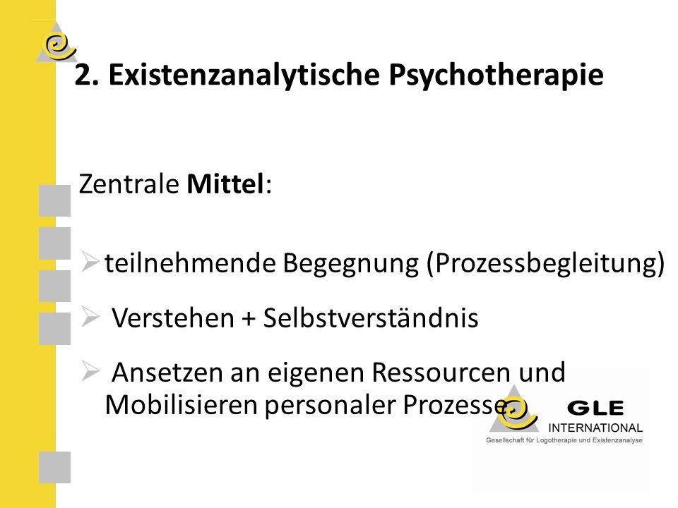 2. Existenzanalytische Psychotherapie