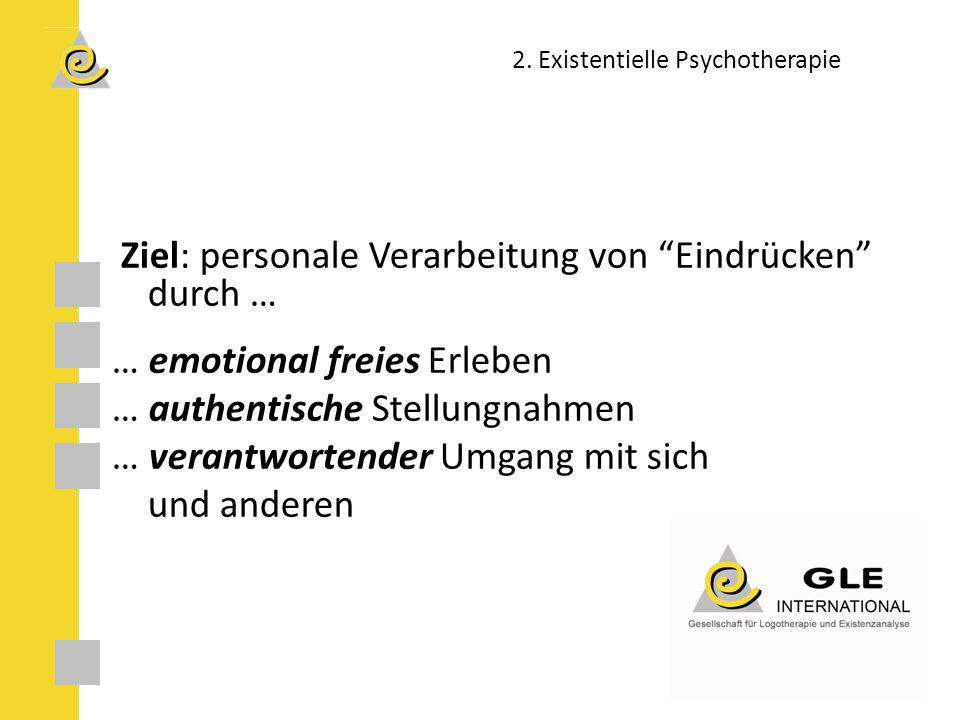 2. Existentielle Psychotherapie