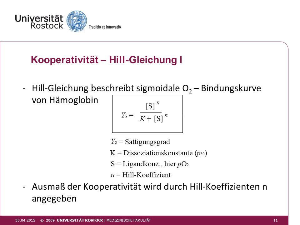 Kooperativität – Hill-Gleichung I