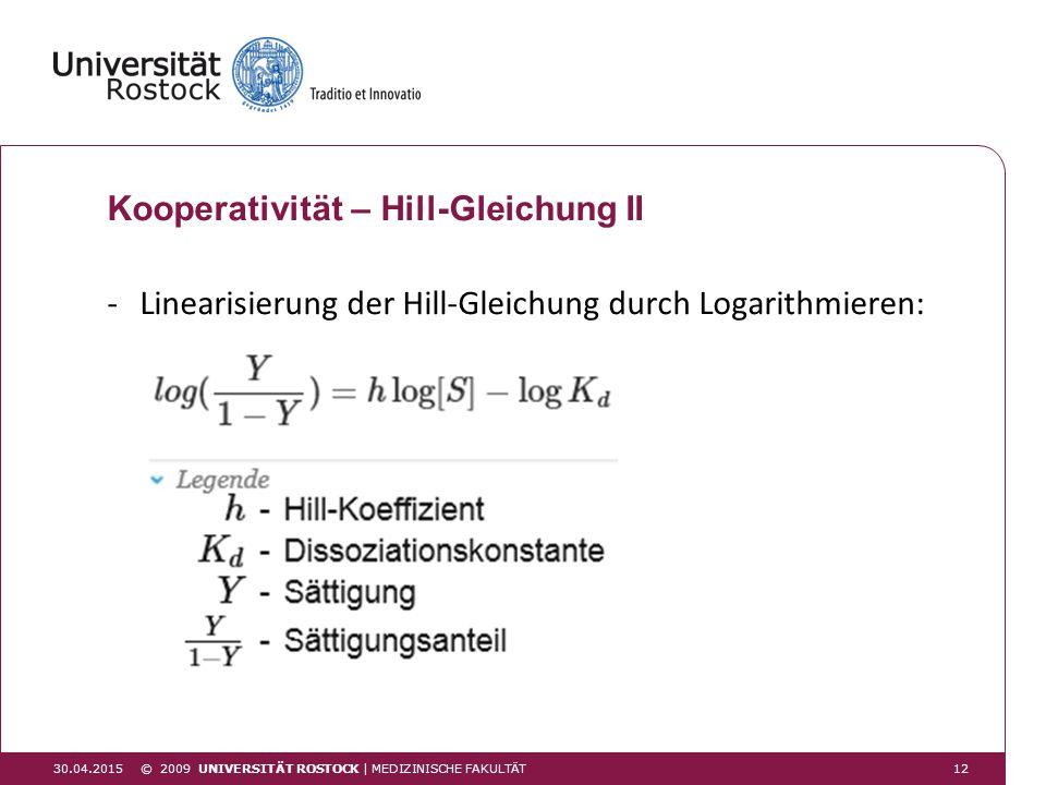 Kooperativität – Hill-Gleichung II