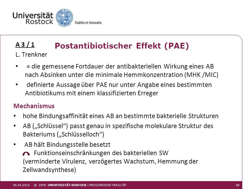 Postantibiotischer Effekt (PAE)