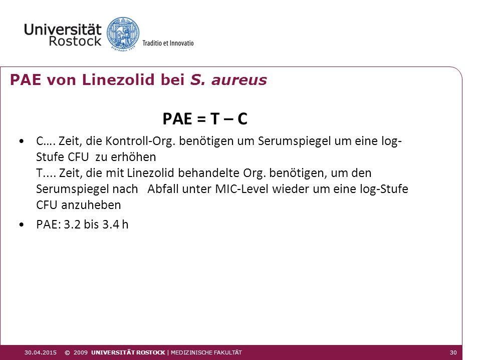 PAE von Linezolid bei S. aureus