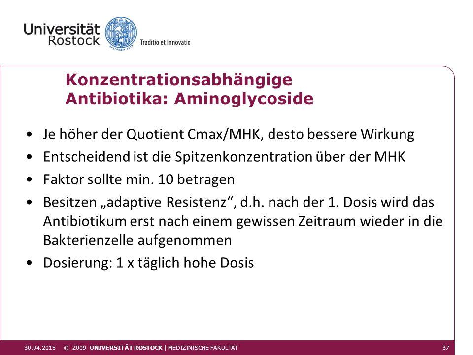 Konzentrationsabhängige Antibiotika: Aminoglycoside