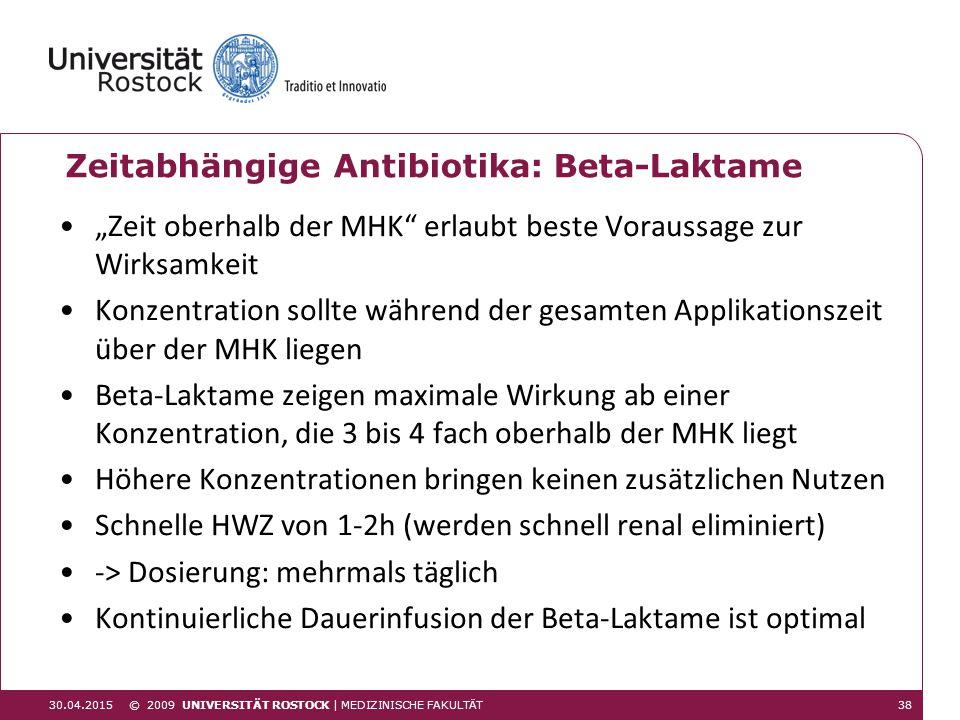 Zeitabhängige Antibiotika: Beta-Laktame
