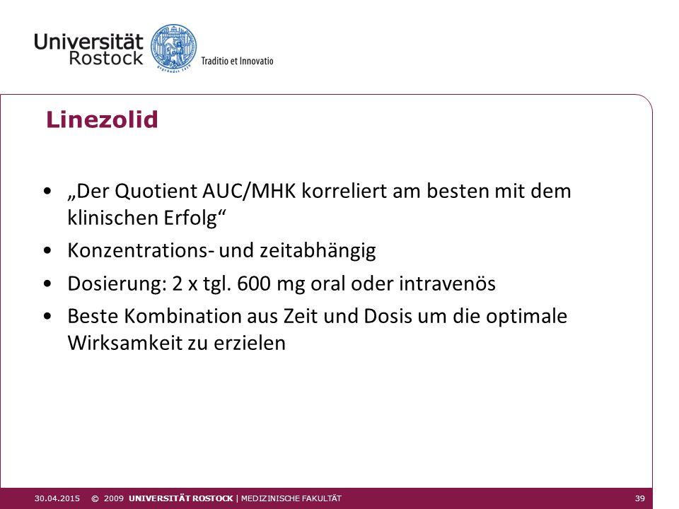 """""""Der Quotient AUC/MHK korreliert am besten mit dem klinischen Erfolg"""