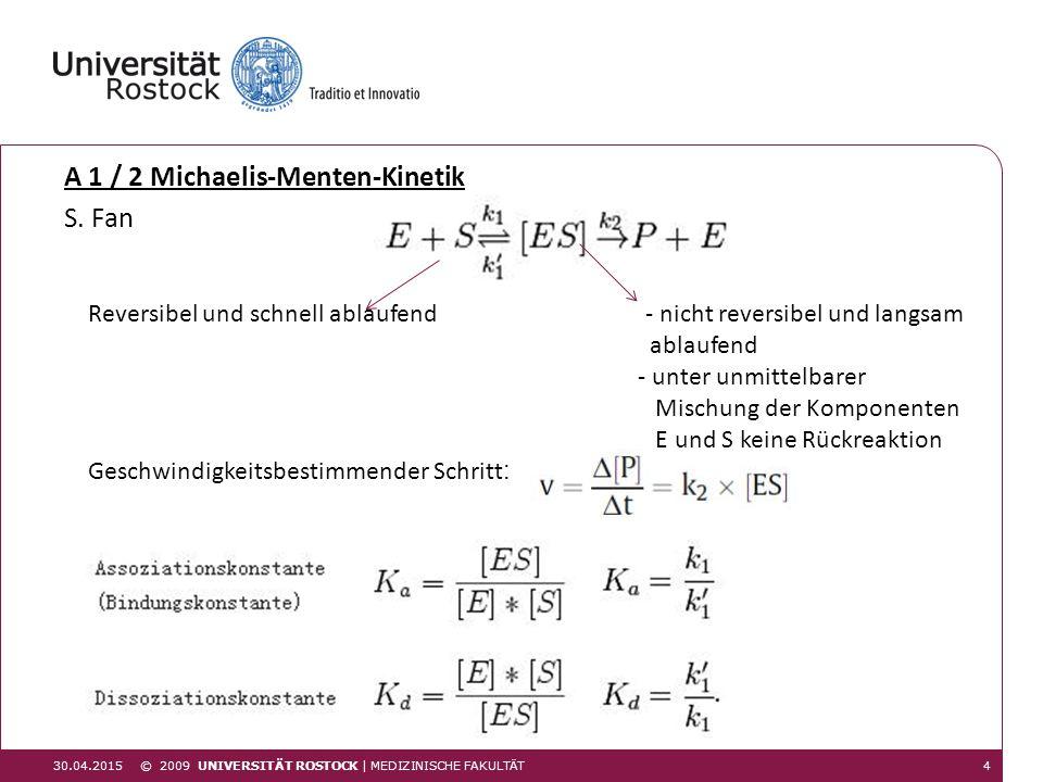 A 1 / 2 Michaelis-Menten-Kinetik S. Fan