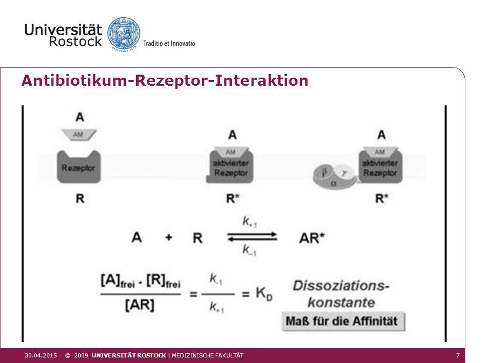 Antibiotikum-Rezeptor-Interaktion