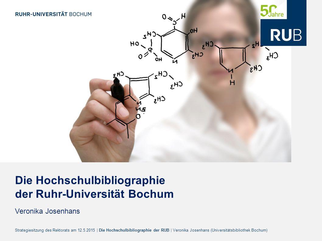 Die Hochschulbibliographie der Ruhr-Universität Bochum