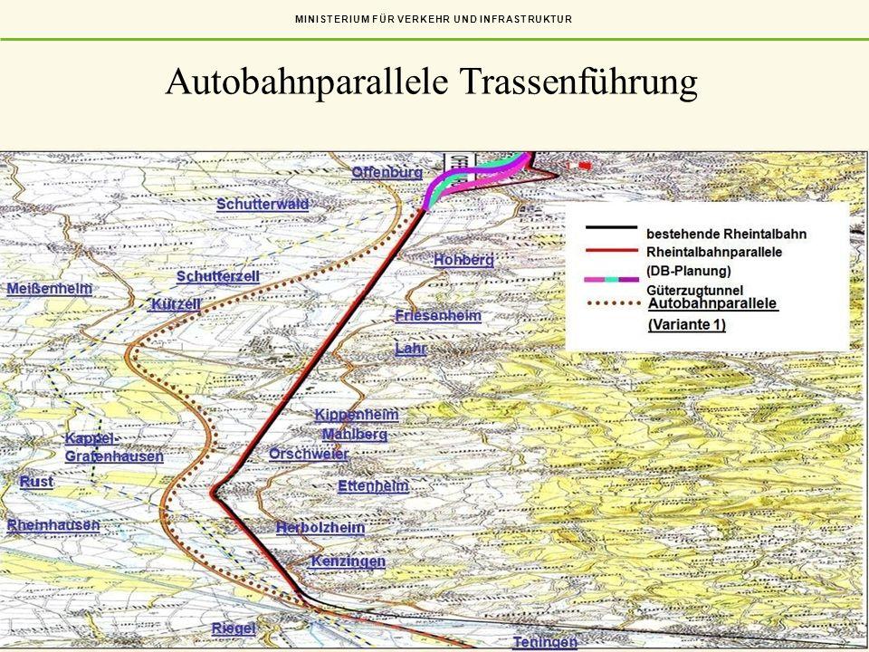 Autobahnparallele Trassenführung