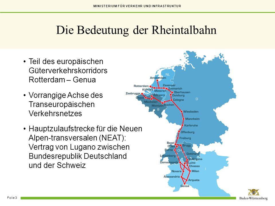Die Bedeutung der Rheintalbahn