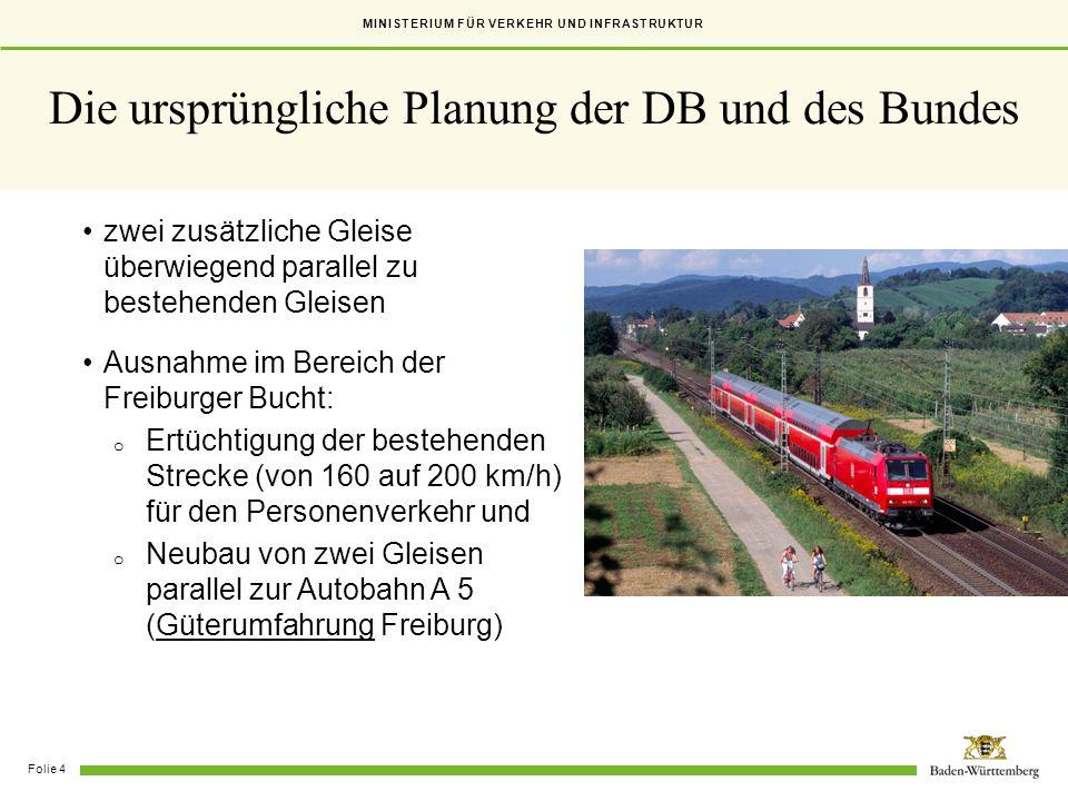 Die ursprüngliche Planung der DB und des Bundes